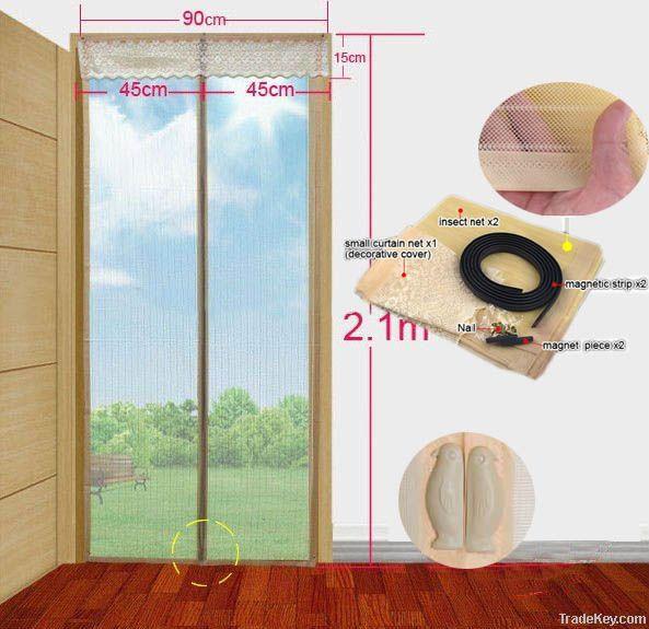 Magnetic soft screen door
