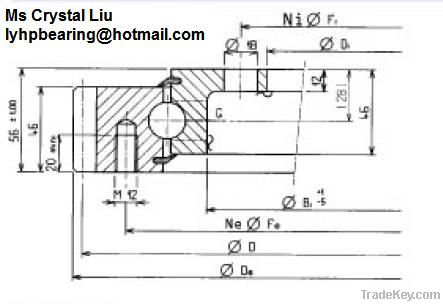 060. 20. 0414. 500. 01. 1503 Four point contact ball bearing