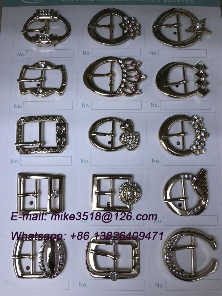 Factory wholesale shoes accessories, pin buckle parts, lady sandals parts