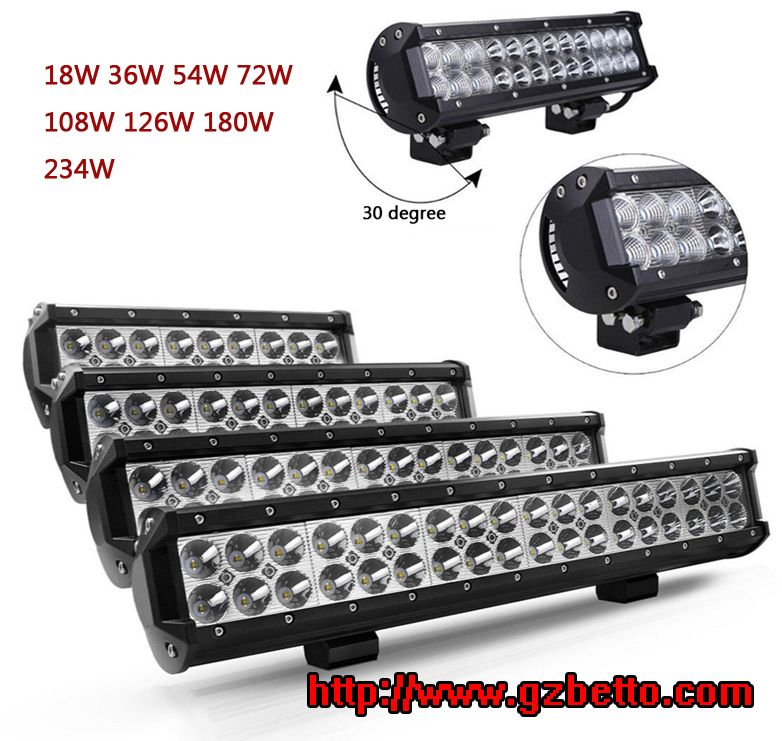 Wholesale 24V 12V LED offroad light bar for cars trucks motorcycle jeeps, LED light bar