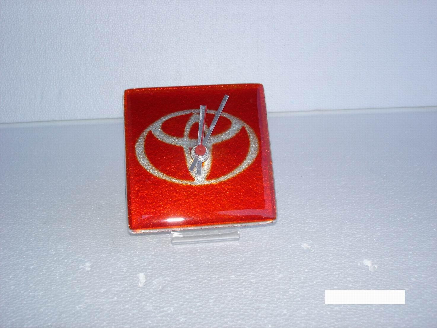 Custom Made tableClock with logo of Toyota Car Company