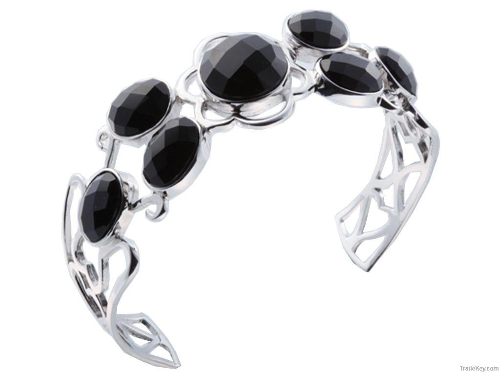 Fashion Sterling Silver Cuff Bangle