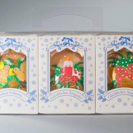 American Christmas Collection Golden Ornaments
