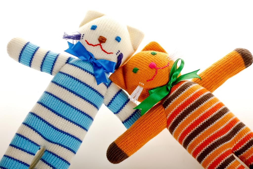 Hand made stuffed knitted animals from Ukraine