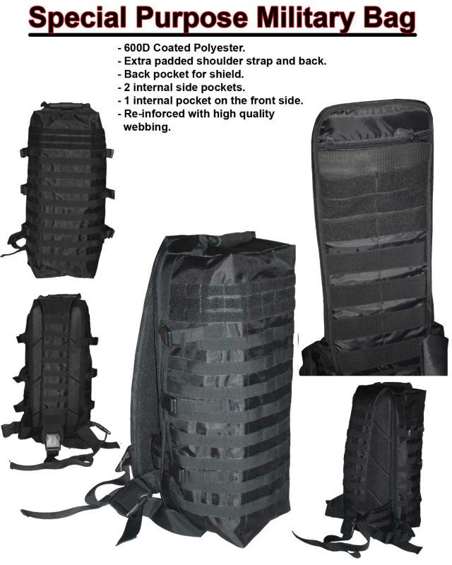 Special purpose military and police back pack