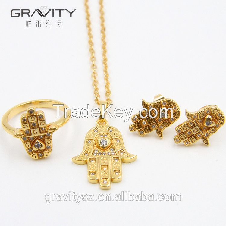 TZXG0037 Popular Luxury Indian/saudi 24k gold Factory Direct Price Wholesale For Ladies Set Jewelry