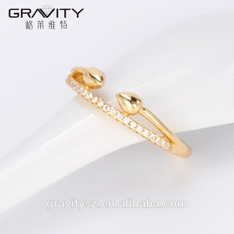 JZCG0001 Gravity 2017 newest copper alloy gold rings jewelry designs for women