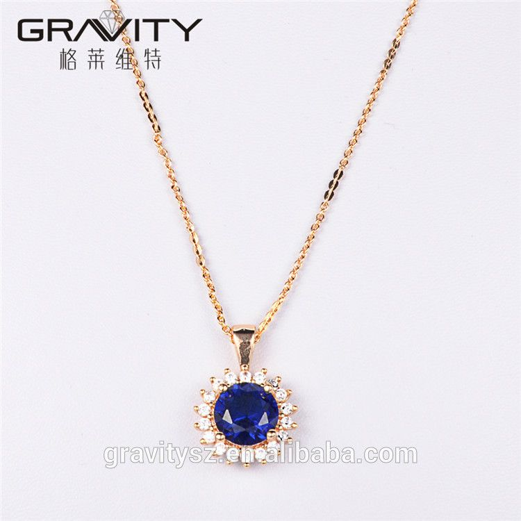 TZXG0087 Gravity fashion Dubai Unique Elegant Blue Stone 18K Gold Body Jewelry Set Factory Direct Price For Ladies Jewelry set