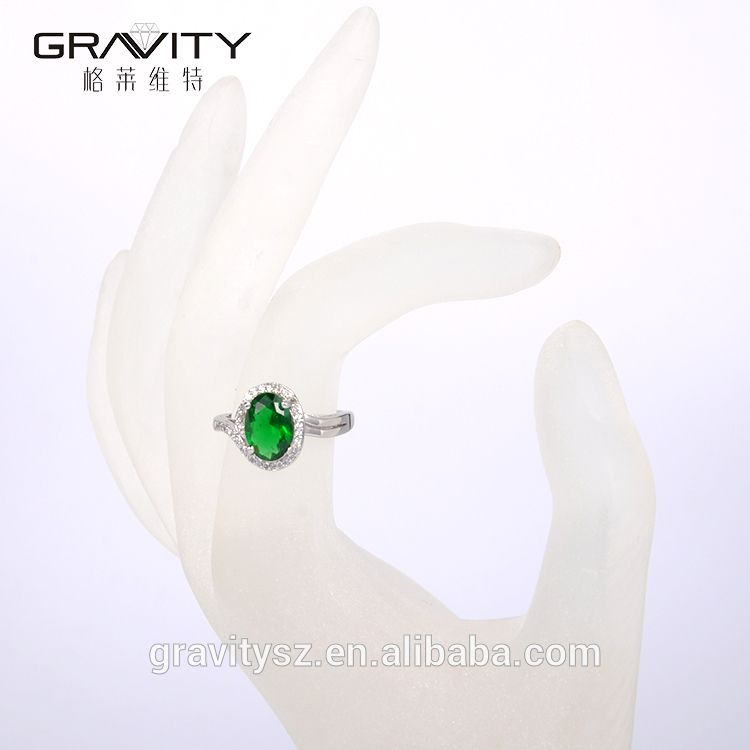 JZCS0001 Gravity simple white gold ring designs with cubic zirconia