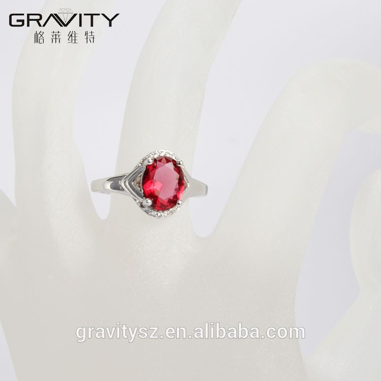 Gravity wholesale fashion saudi dubai imitation women's white gold plated Bridal rings jewelry