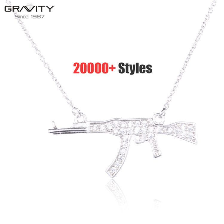 Beautiful designer handcrafted 925 silver zircon charm cute long statement mens vintage jewelry pendants for body necklaces