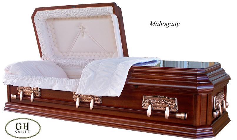 Mahogany Wooden Funeral Casket
