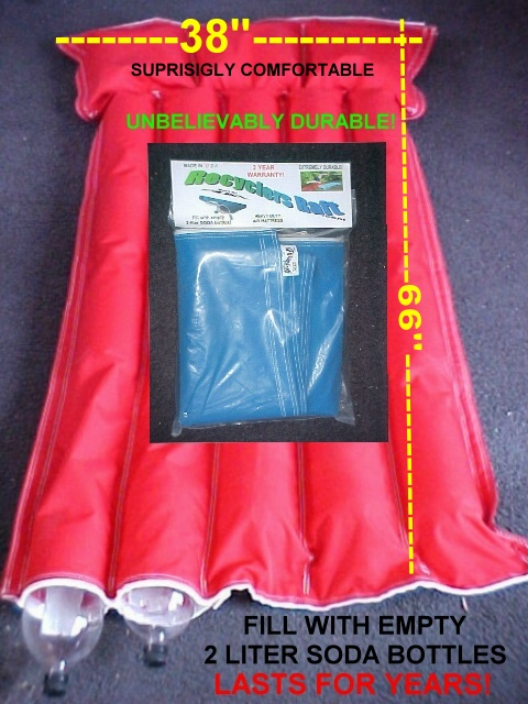 Recyclers Raft (red)soda bottle filled pool toy
