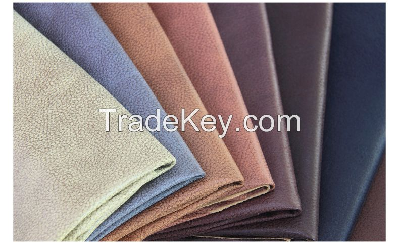 Bronzing sofa upholstery fabric with leather effect