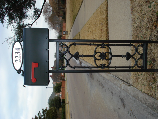 wrought iron mailbox post custom cast iron mailbox posts by aw some ornamental iron 1666