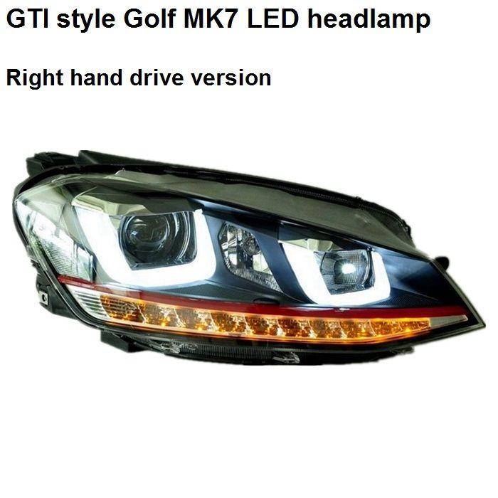 GTI style right hand drive golf 7 headlight