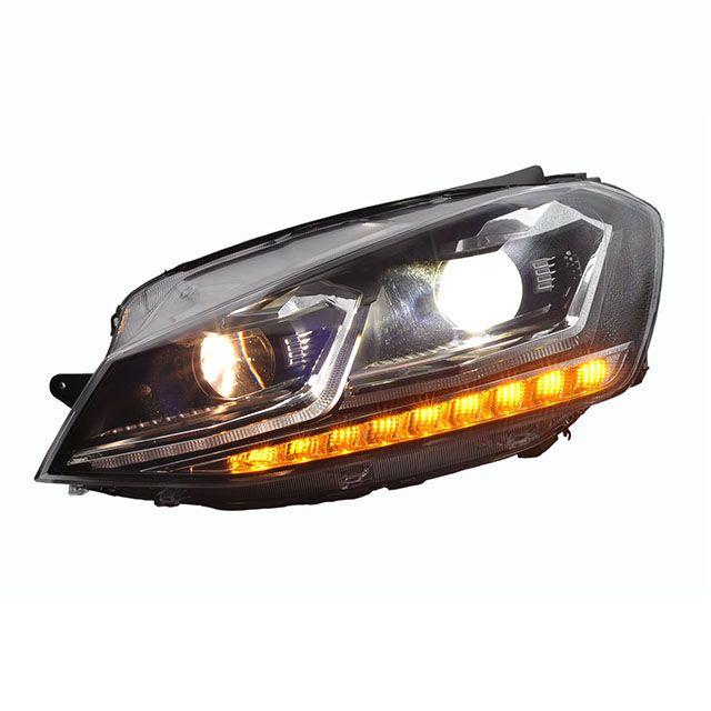 R style Golf mk7.5 look LED headlight for Golf 7
