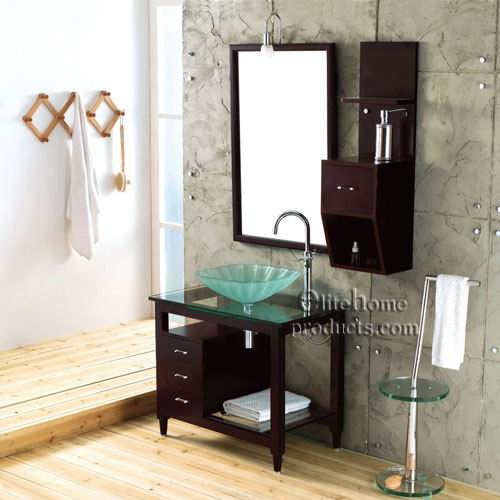 Tempered Glass Sinks and Bathroom Vanities