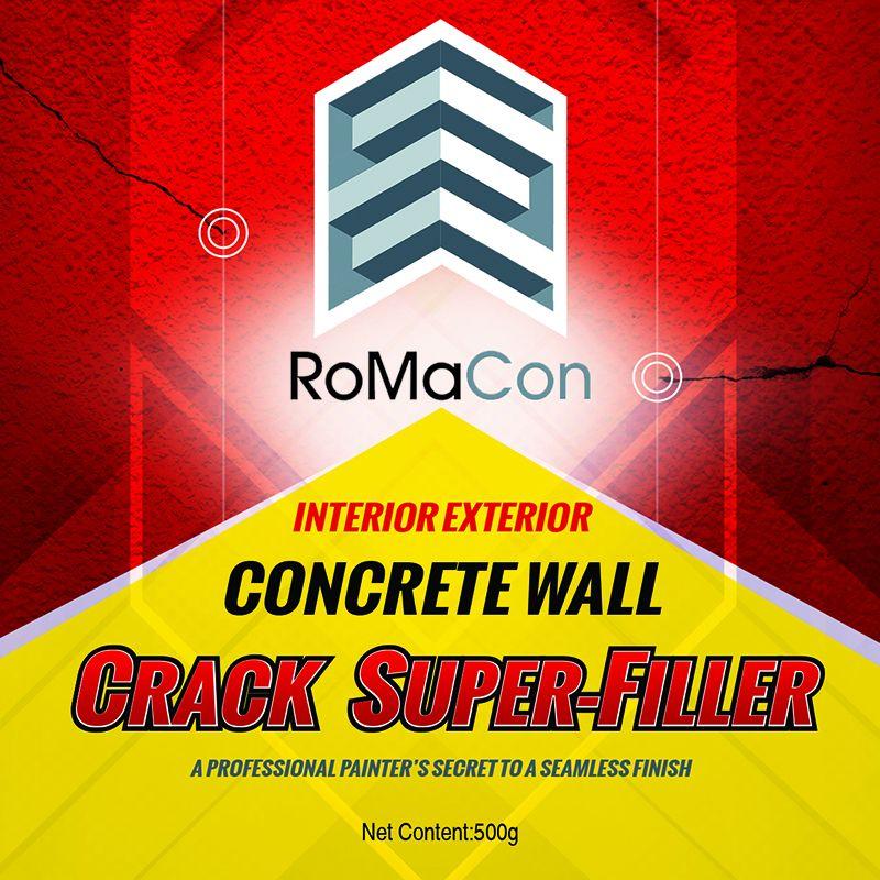 RoMaCon Interior Exterior Concrete Wall Crack Super-Filler