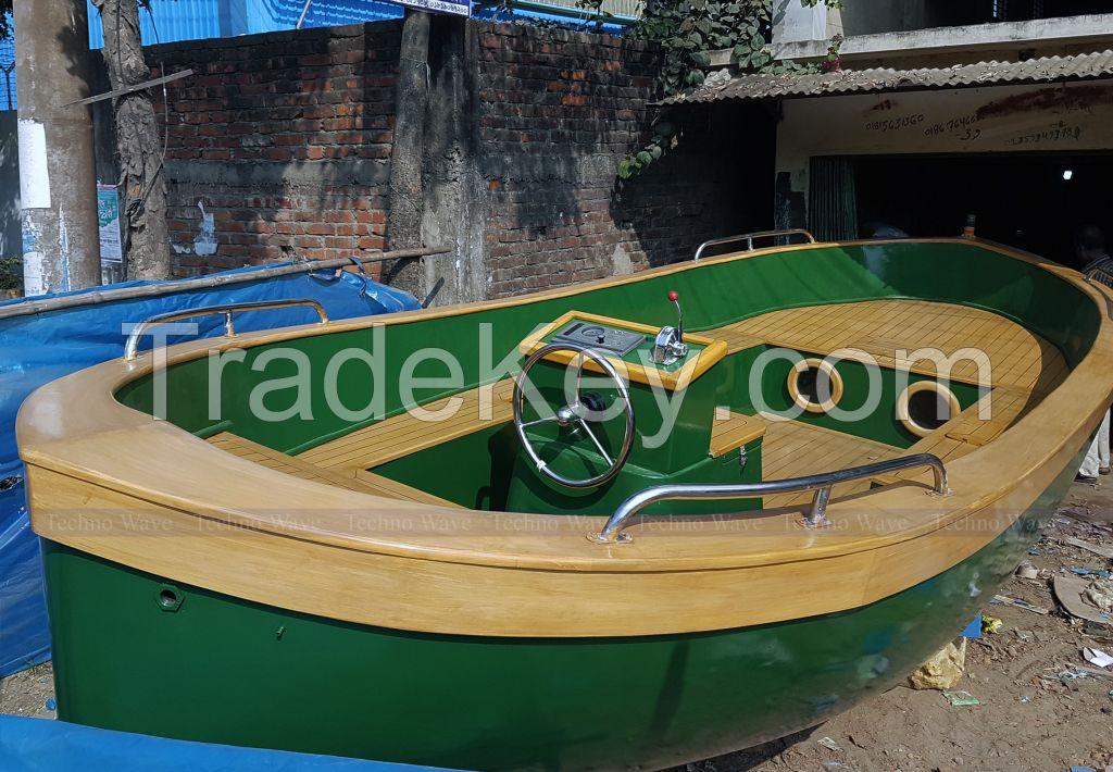 Pleasure Boat design by Teak/Mahogany wood