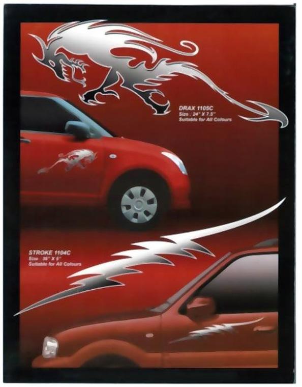 Chrome Car Graphic