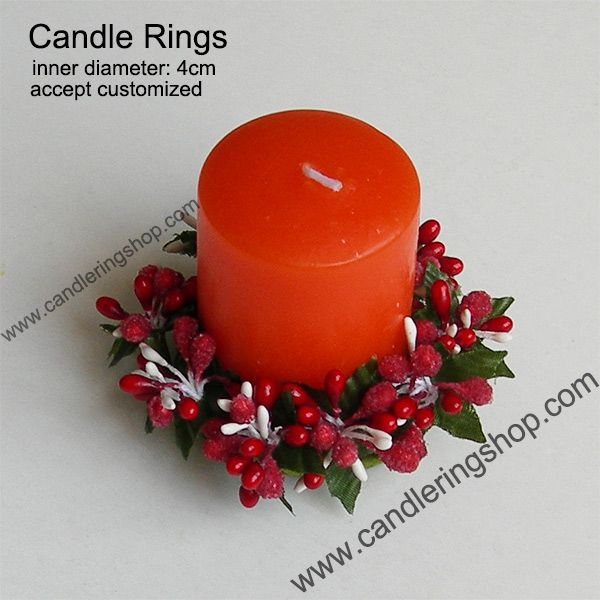 Berry Candle Rings Christmas wreath Candle Rings decoration