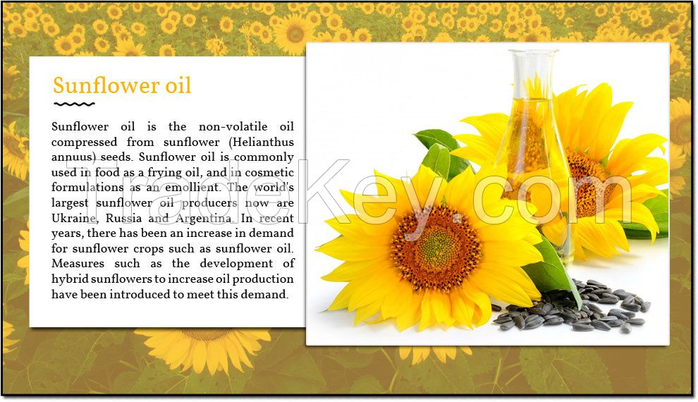 Sunflower-soybeans- corn- palm- oils