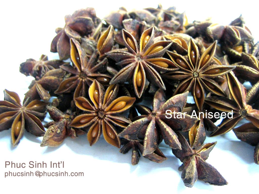 Black/White pepper, cashew nuts, desiccated coconut, star xxxxx