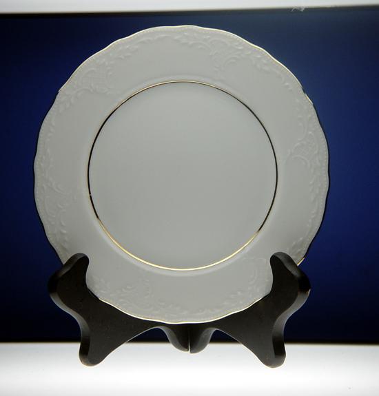 Antique White Embossed Porcelain Plates