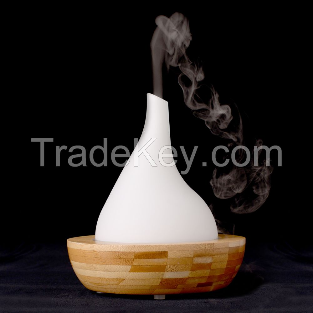 Moutaintop Essential Oil Ultrasonic Air Humidifier Electric Aroma Diffuser Aromatherapy Dry Protecting 200ML 7 LED Colors