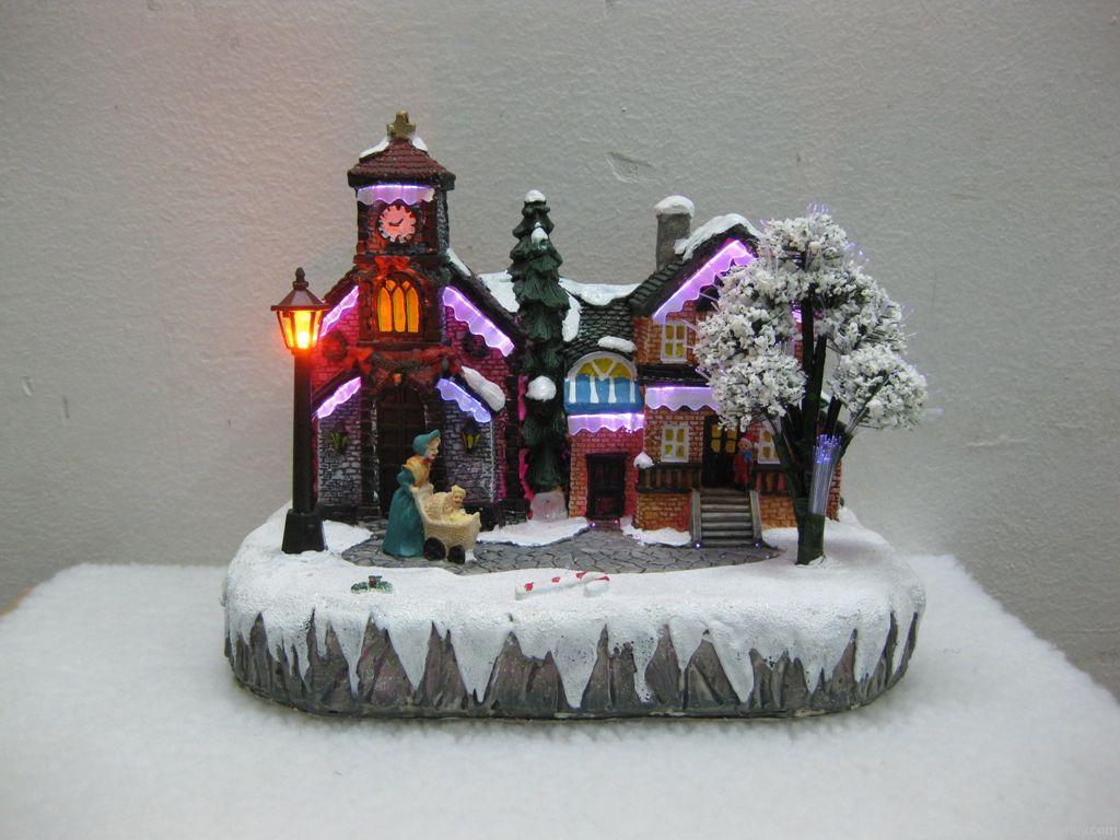 Church  house  with fiber optic B/O