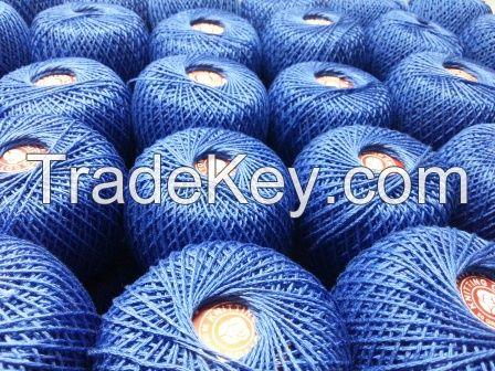 hand knitting metallic cotton yarn