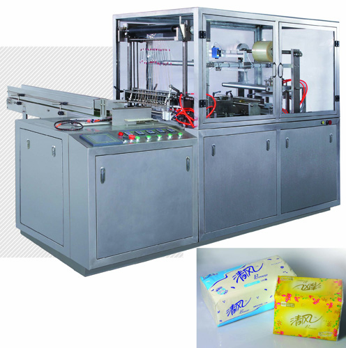 faicial tissue napkins wrapping  machine without box