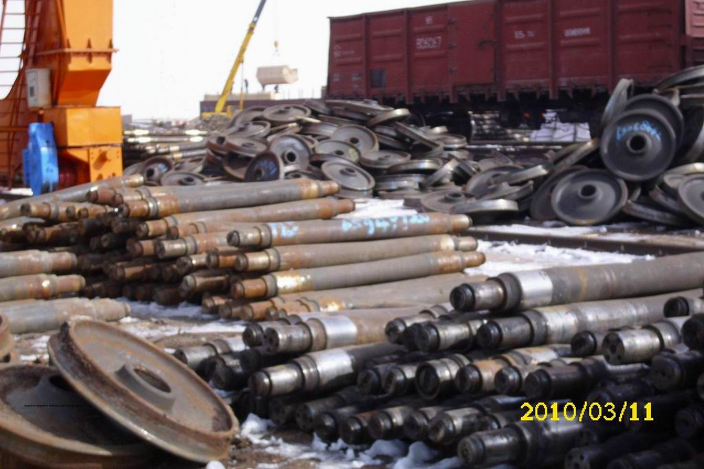 scrap  used train axis