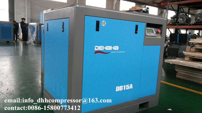 15kw 8bar belt driven screw air compressor