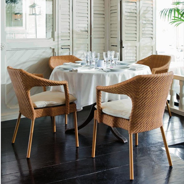 Cheap Restaurant Use High Quality rattan dining chair