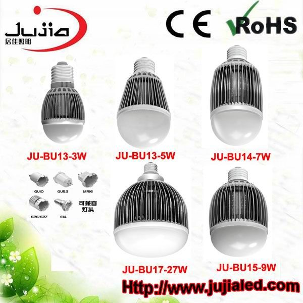 3-24W LED Bulb with 100 to 240V AC