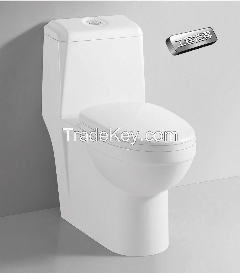 Dual Flush One Piece Eco-Friendly High Efficiency Siphon Jet Flushing Ceramic Toilet- TA8160