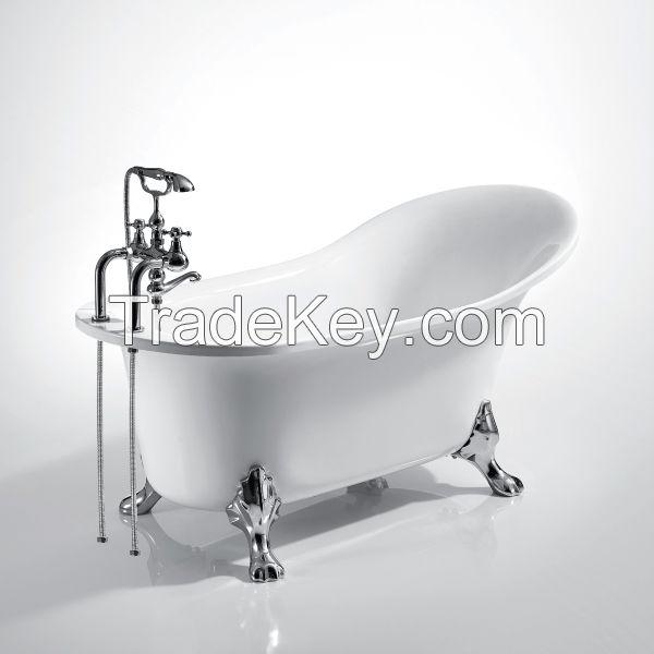 Classical royal bathtub Single slipper cast iron bathtub with craw foot
