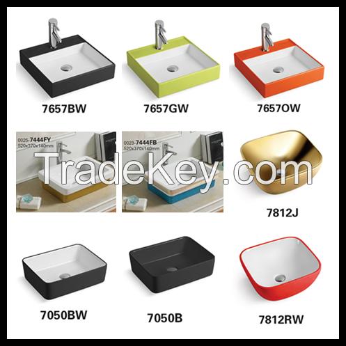 Ceramic Sanitary Ware Bathroom Sink Color Lavatory Basins