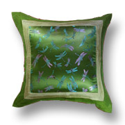 Green Dragonfly Cushion Cover