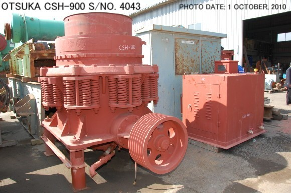 USED OTSUKA MODEL CSH-900 CONE CRUSHER S/NO. 4043
