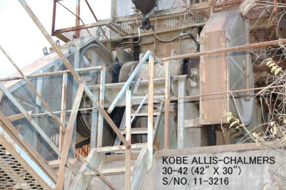 USED KOBE ALLIS-CHALMERS 30-42 SINGLE TOGGLE JAW CRUSHER