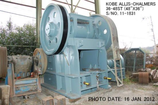 USED KOBE ALLIS-CHALMERS 36-48ST JAW CRUSHER