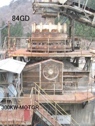 USED UBE-NORDBERG MODEL 84GD GYRADISC CRUSHER