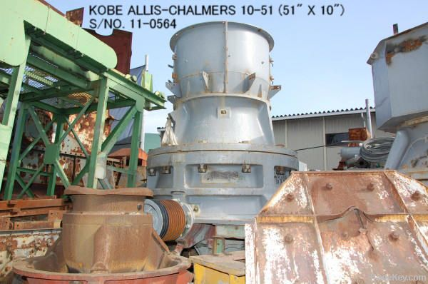USED KOBE ALLIS-CHALMERS 10-51 HYDRO CONE (EXCONE) CRUSHER