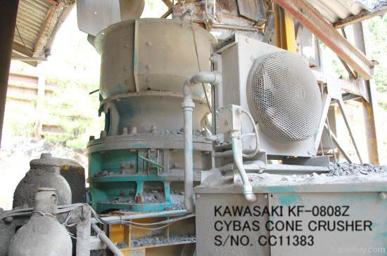 USED KAWASAKI MODEL KF-0808Z (80MM X 800MM) CYBAS CONE CRUSHER