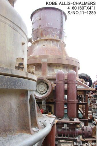 USED KOBE ALLIS-CHALMERS 4-60 HYDRO CONE (EXCONE) CRUSHER