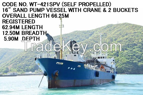 (SELF-PROPELLED) CODE No. WT-421SPV of USED SAND PUMP VESSEL (DREDGER)