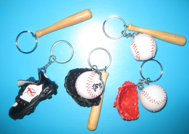 mini baseball keychain